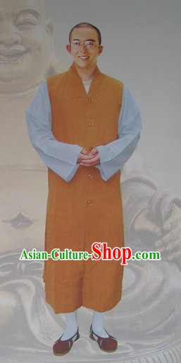 Traditional Chinese Shaolin Monk Robe Complete Set for Men