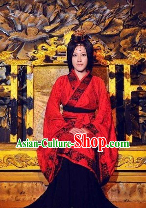 Han Dynasty Empress Red Clothing for Women