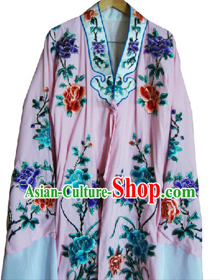 Long Sleeve Chinese Dramatic Embroidered Robe for Women