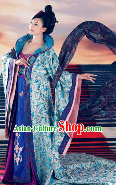 Ancient Palace High Collar Empress Long Trail Clothing Complete Set