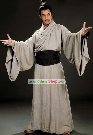 Three Kingdoms Lv Bu Costumes Complete Set for Men