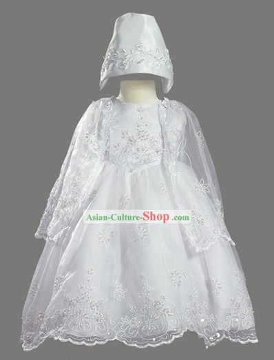 Traditional Korean Baptism Christening Gown for Baby Girl