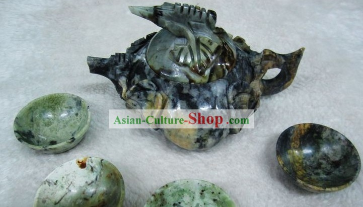 Chinese Natural Jade Stone Teapot