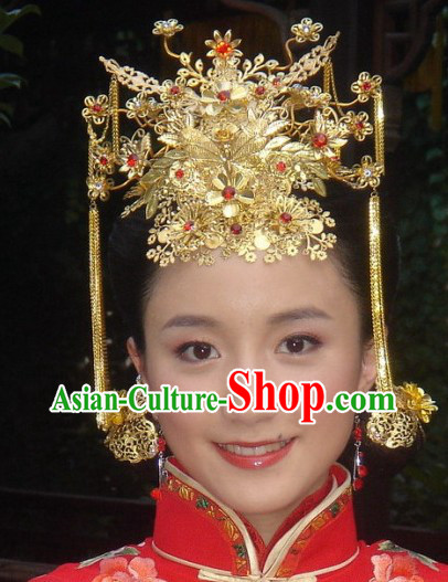 ad5984bc181 Stunning Chinese Wedding Phoenix Crown for Brides