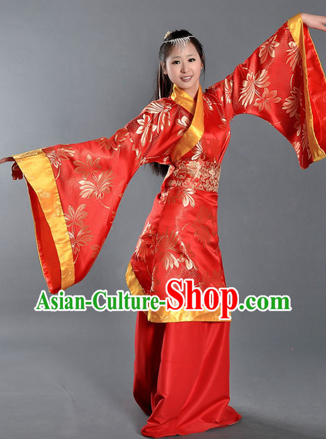 Ancient Chinese Palace Red Dance Costume