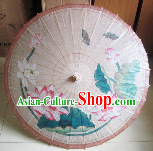 Traditional Chinese Handmade Lotus Umbrella