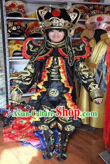 Traditional Chinese Change Mask Costumes Hat Boots Masks Complet Set