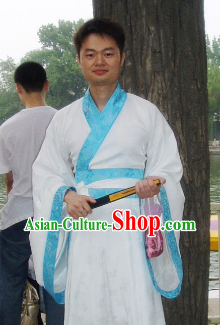 Ancient Chinese Style Wide Sleeve Zhiju Hanfu Clothing for Men