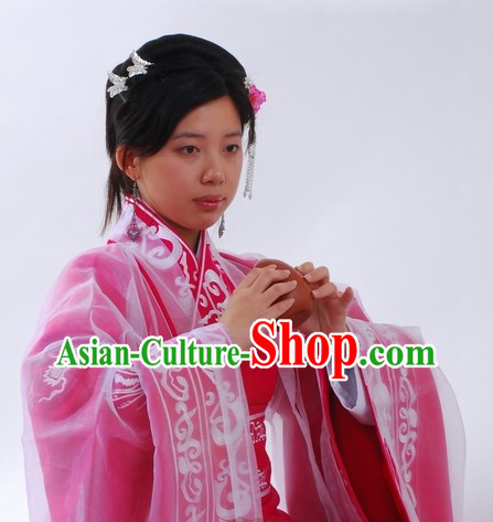 Ancient Chinese Han Dynasty Quju Embroidered Phoenix Empress Clothing for Women