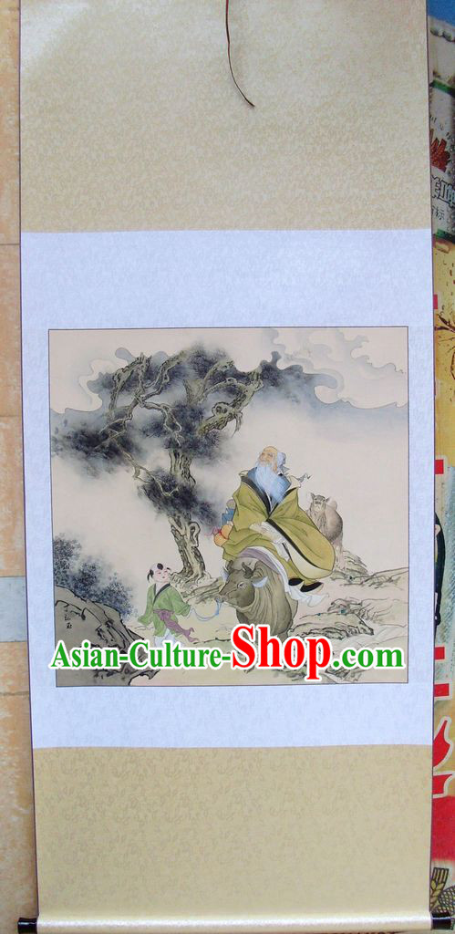 Chinese Classic Painting of Lao Tzu Smiling by Ding Hongyu