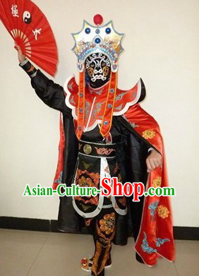 Bian Lian Mask-changing Performance Costumes Helmet Eight Masks Instruction DVD Complete Set for Men
