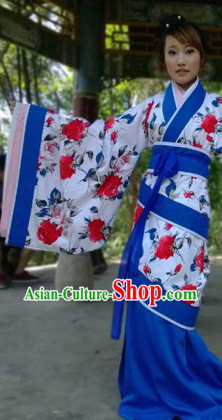Ancient Chinese Imperial Palace Han Dynasty Empress Outfit Quju Clothing