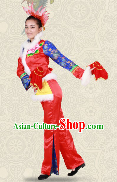 Han Minority Peony Dance Costumes for Women