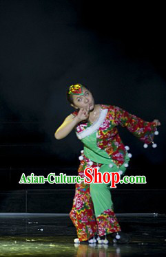 Traditional Chinese Lion Dancer Leading Costume for Women
