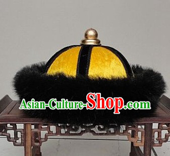 Ancient Chinese Qing Dynasty Imperial Palace Prince Hat for Men