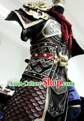 Ancient Chinese Monkey King Sun Wukong Cosplay Armor Costumes and Coronet Complete Set for Men