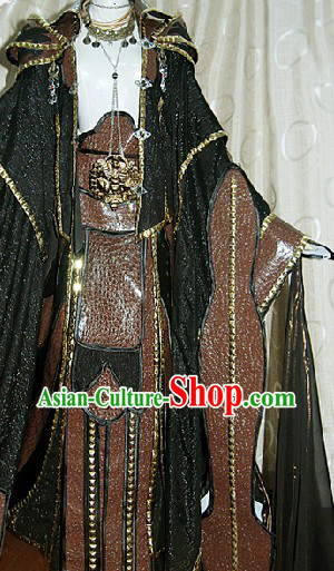 Ancient Chinese Kung Fu Master Cosplay Costumes Complete Set for Men