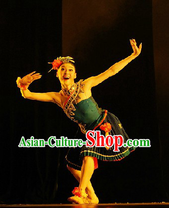 Custom-made Miao Minority Competition Dance Costumes for Women