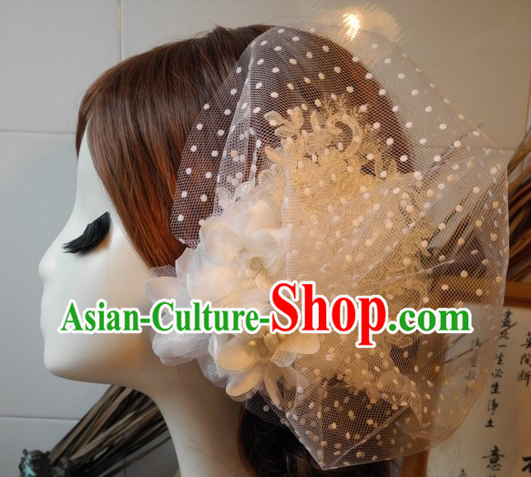 Traditional Chinese Handmade Wedding Ceremony Brides Headpieces Complete Set