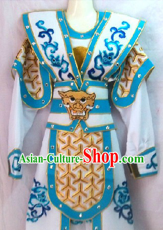 Ancient Chinese General Armor Dramatic Costume for Men