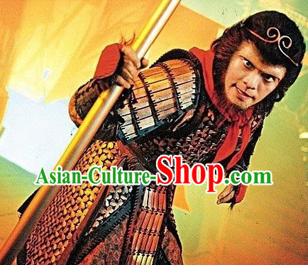 A Chinese Odyssey Monkey King Costume and Headwear Complete Set for Men