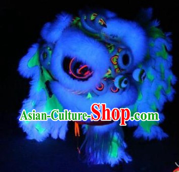 Luminous Lion Dance Head and Tail Pants Costume Complete Set