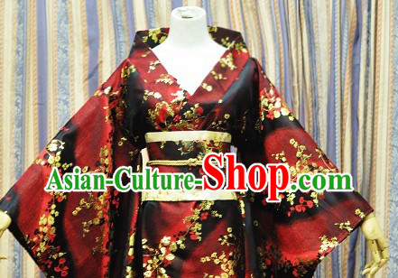 Japanese Classical Kimono Clothing Complete Set for Ladies