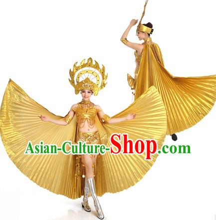 Thailand Dance Costume and Headpiece for Women