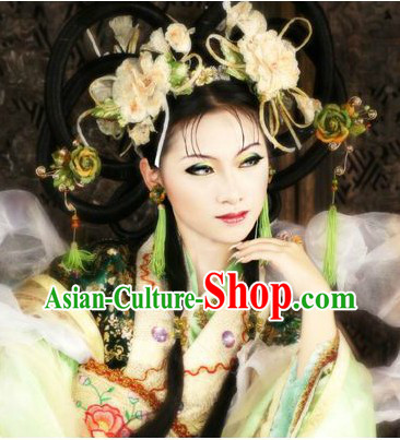Ancient Chinese Princess Style Wig and Hair Accessories for Lady