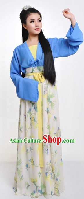 Chinese Classic Summer Wear Hanfu Dresses Complete Set for Women