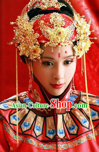 Traditional Chinese Bridal Wedding Hair Accessories Complete Set