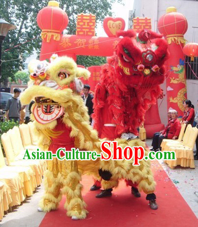 Traditional Chinese Wedding Lion Dance Prop Two Sets for Adults