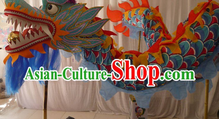 100 Meters Long Chinese Dragon Dance Costumes for 49-50 Adults