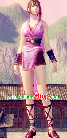 Pink Electronic Game Character Sexy Lolita Cosplay Costumes for Girls