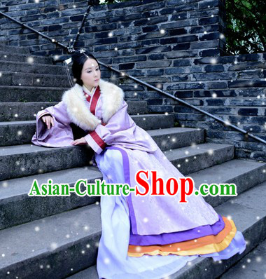 Ancient Chinese Mongolian Tribe Princess Clothes Complete Set