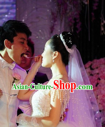 Li Xiaolu Pearl Romantic Wedding Dress