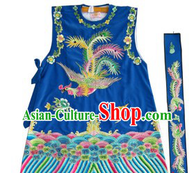 Traditional Chinese Opera Lao Dan Phoenix Embroidery Jacket