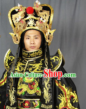 Bian Lian Mask Changing Dragon Embroidery Costumes Hat and 12 Masks