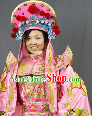 Bian Lian Face Changing Costume Pants Belt Hat and 12 Masks Complete Set for Women