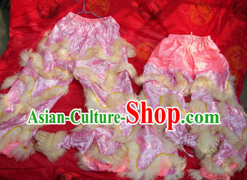 Dragon Fabric Chinese Festival Celebration Two Pairs of Lion Dance Pants and Shoes Covers