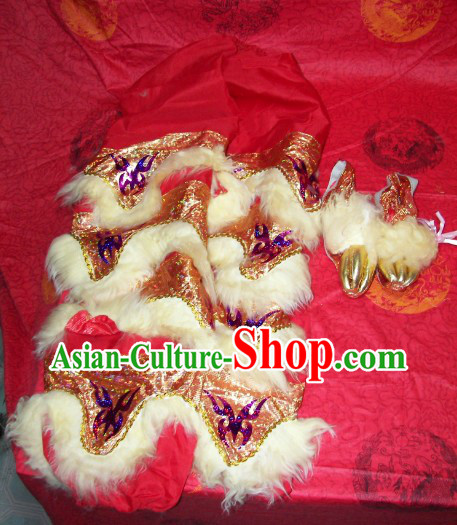 Bat Fu Pattern One Pair of Lion Dance Pants and Shoes Covers