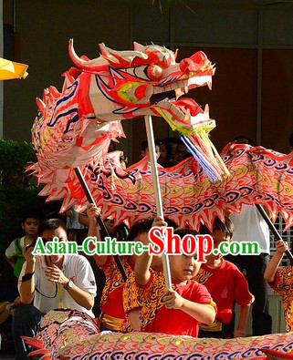 Children Size Supreme Luminous Dragon Dance Costumes Complete Set