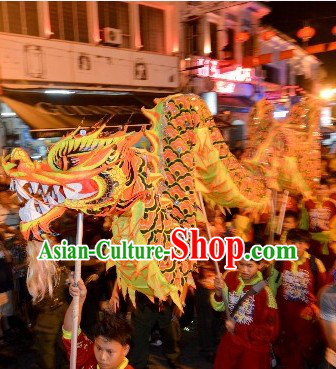 Chinese New Year Night Parade Supreme Illuminated Supreme Dragon Dance Equipments Complete Set