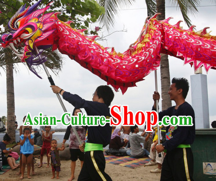 Competition and Parade Chinese Lunar New Year Events Luminated Dragon Dancing Costumes Complete Set