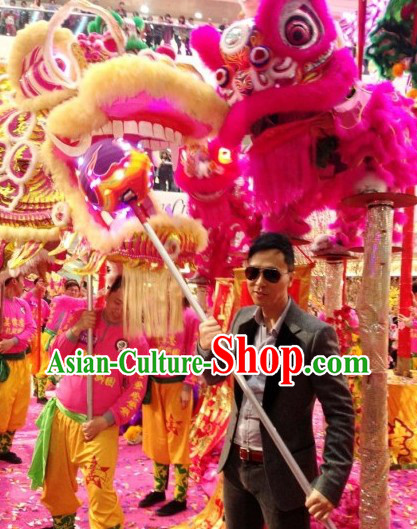 Supreme Best Gold New Year Celebration Dragon Dance Costume Complete Set
