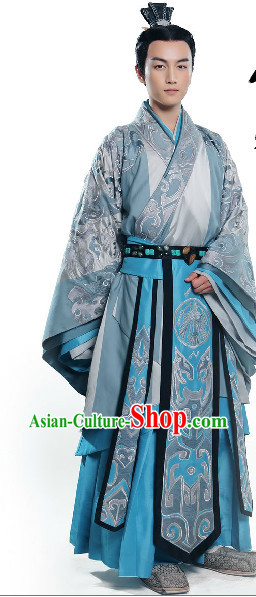 Chinese Imperial Palace Prince Clothing and Coronet Complete Set