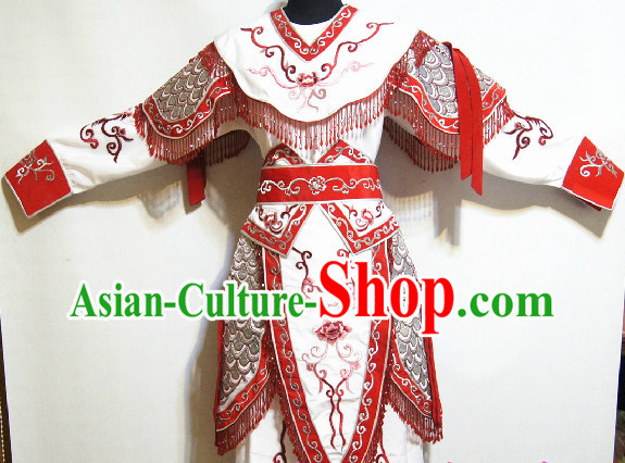 Chinese Traditional Hua Mulan Armor Costumes for Women