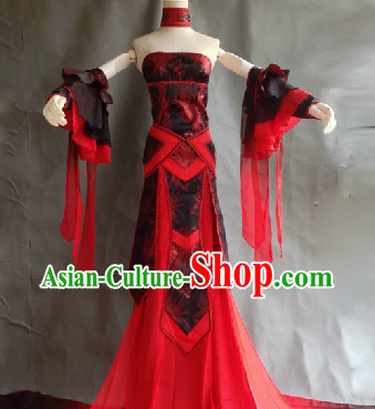 Ancient Chinese Palace Dance Costumes Complete Set for Ladies