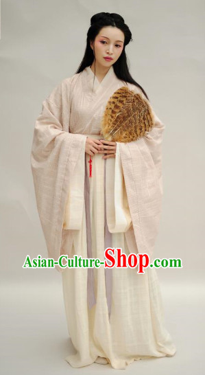 Ancient Chinese Flax Hanfu Jiao Ling Clothing for Women