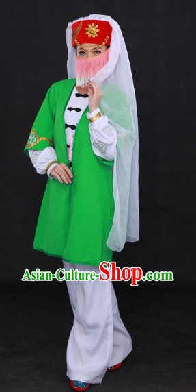 Sala Ethnic Minority Stage Costumes and Hat for Girls